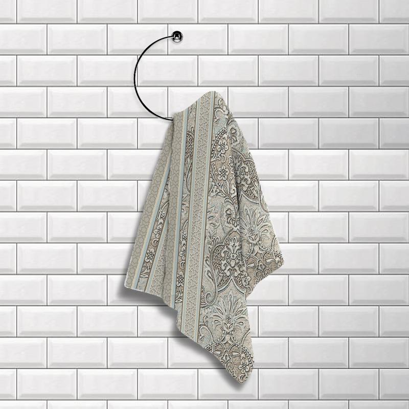 Купить Полотенца Романтика, Кухонное полотенце Византия (50х70 см), Россия, Вафля