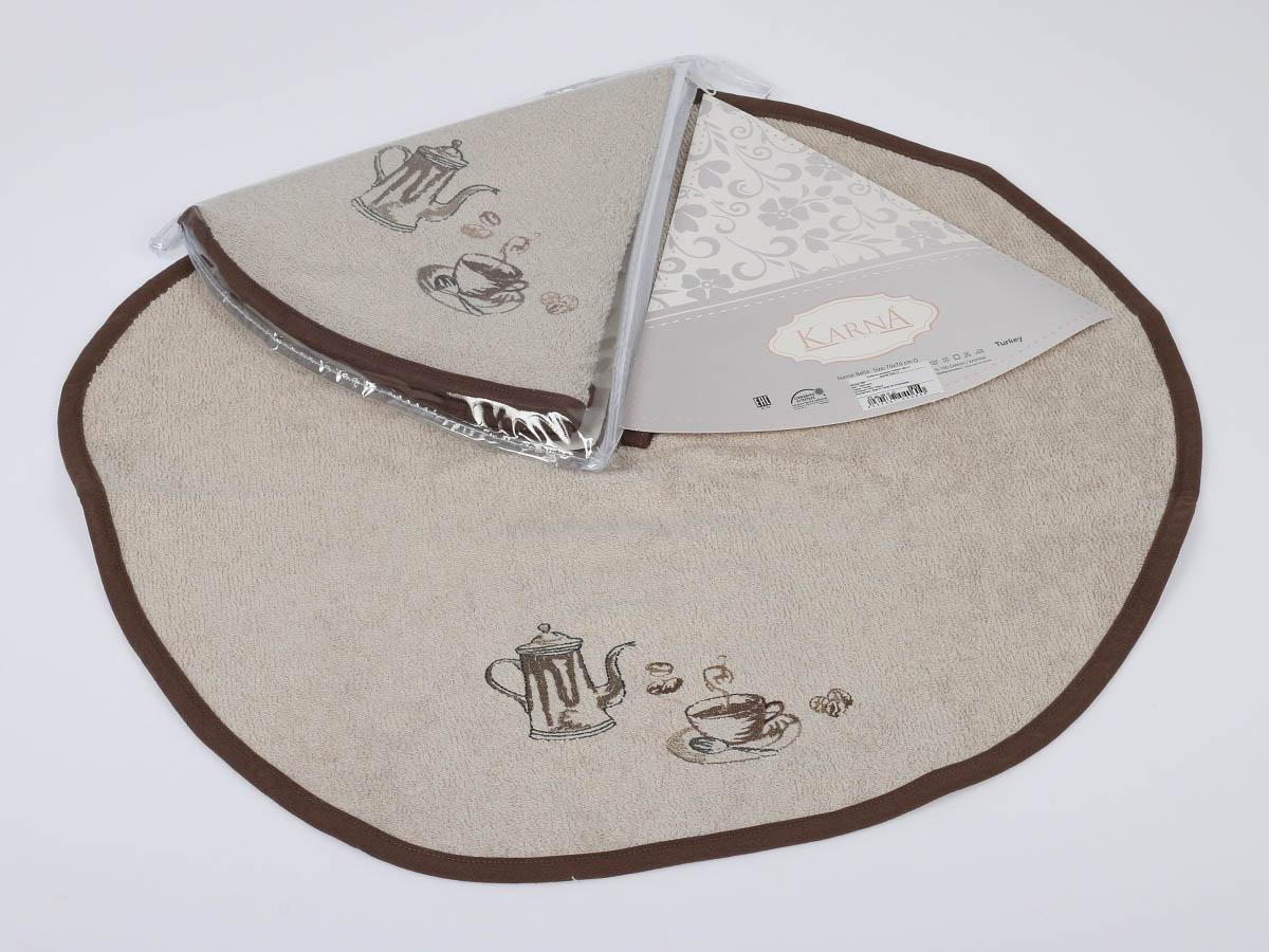 Полотенца Karna Кухонное полотенце Bella Цвет: Стоне (круглая 50 см) салфетка кухонная karna bella диаметр 50 см 505 char003