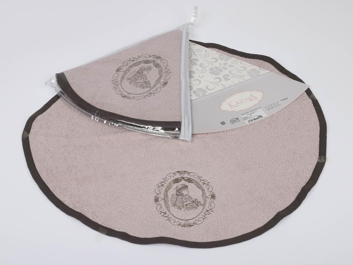 Полотенца Karna Кухонное полотенце Bella Цвет: Светло-Лавандовый (круглая 50 см) салфетка кухонная karna bella диаметр 50 см 505 char003