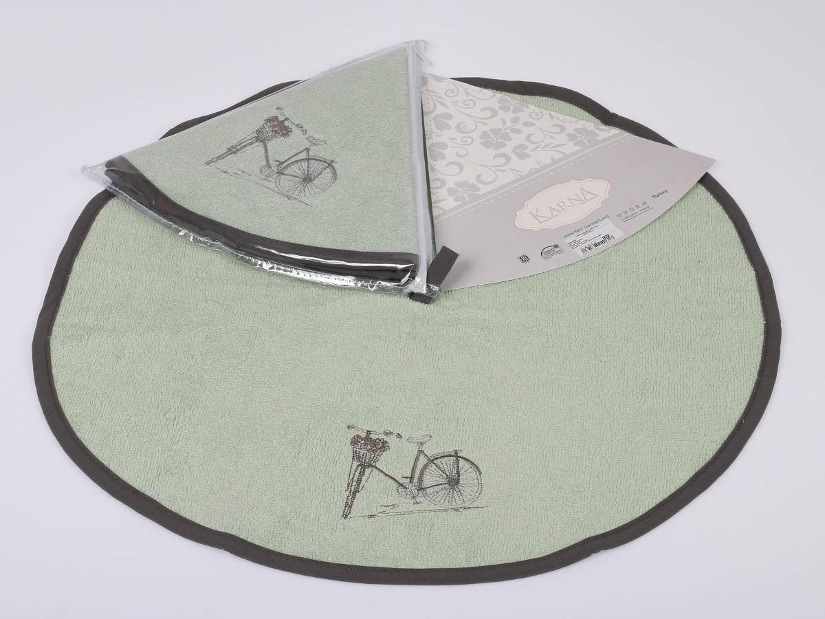 Полотенца Karna Кухонное полотенце Bella Цвет: Зеленый (круглая 50 см) салфетка кухонная karna bella диаметр 50 см 505 char003