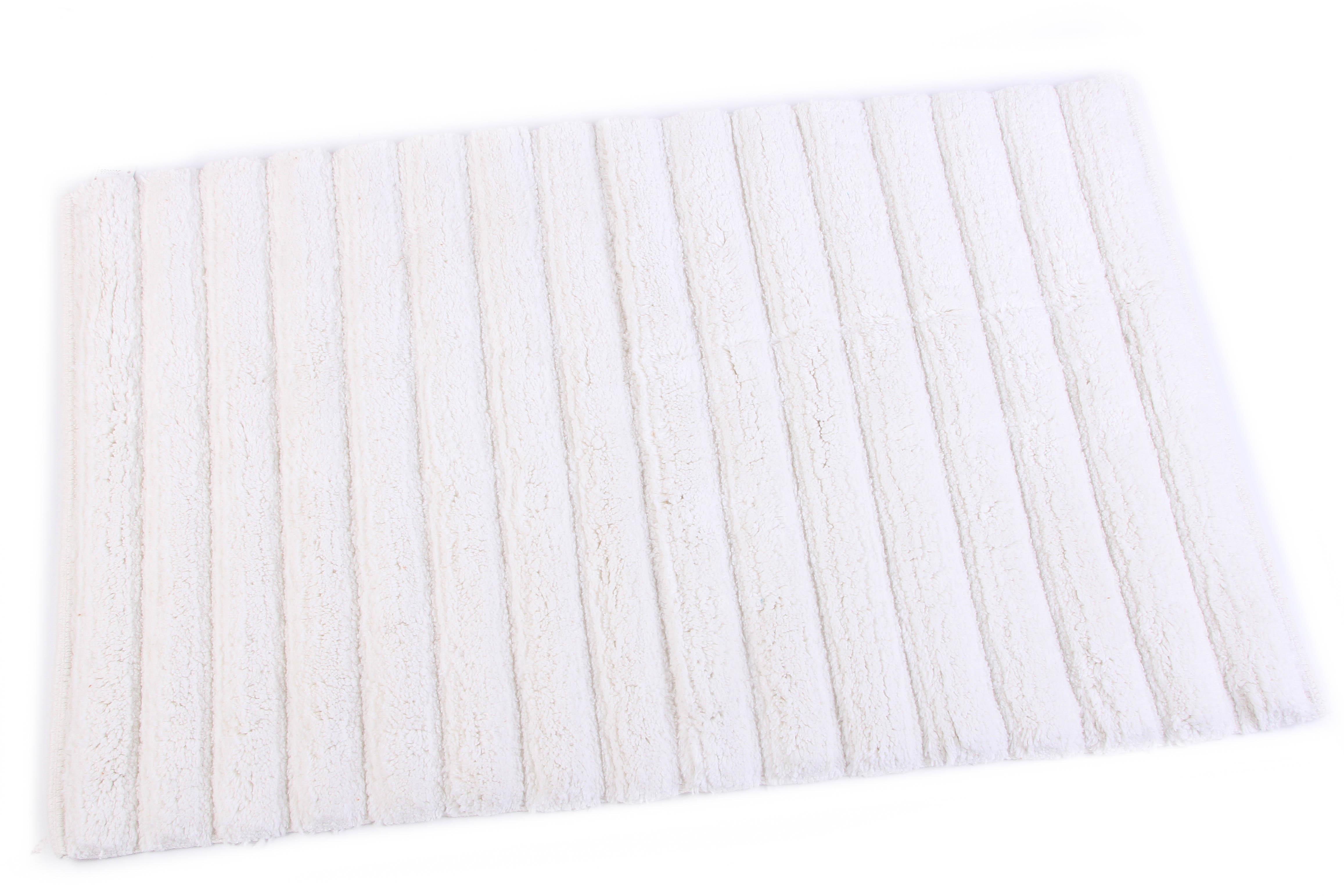Купить Коврики для ванной и туалета Ганг, Коврик для ванной Tabitha Цвет: Белый (50х80 см), Индия, Махра
