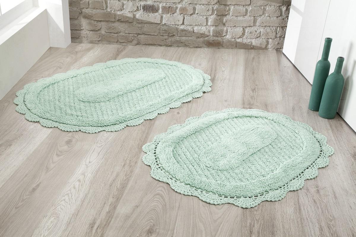 Коврики для ванной и туалета Modalin Коврик для ванной Lokal Цвет: Ментол (50х70 см,60х100 см) коврик для ванной комнаты lounge 50х70 см зелёный