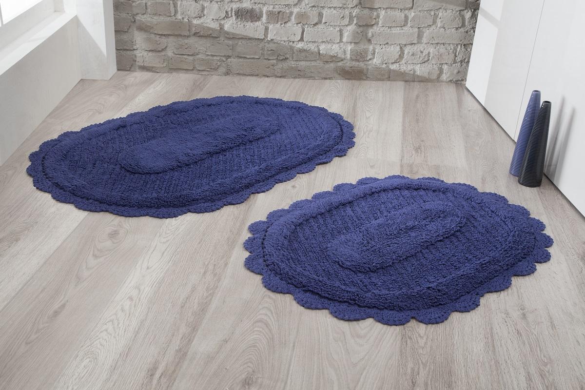 Коврики для ванной и туалета Modalin Коврик для ванной Lokal Цвет: Синий (50х70 см,60х100 см) коврик для ванной комнаты lounge 50х70 см зелёный