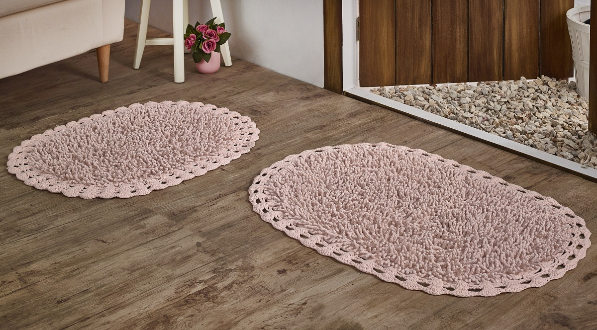 Коврики для ванной и туалета Modalin Коврик для ванной Dual Цвет: Розовый (45х60 см,50х80 см) аксессуары для ванной и туалета white clean коврик для ванной africa 50х80 см
