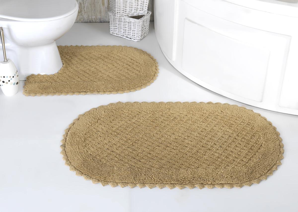Коврики для ванной и туалета Modalin Коврик для ванной Prior Цвет: Бежевый (50х70 см,60х100 см) коврик для ванной комнаты lounge 50х70 см зелёный
