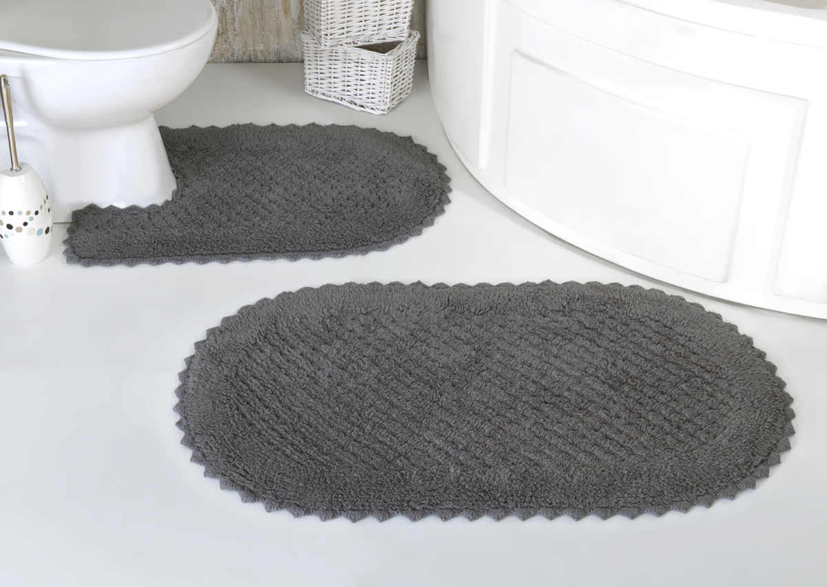 Коврики для ванной и туалета Modalin Коврик для ванной Prior Цвет: Темно-Серый (50х70 см,60х100 см) коврик для ванной комнаты lounge 50х70 см зелёный