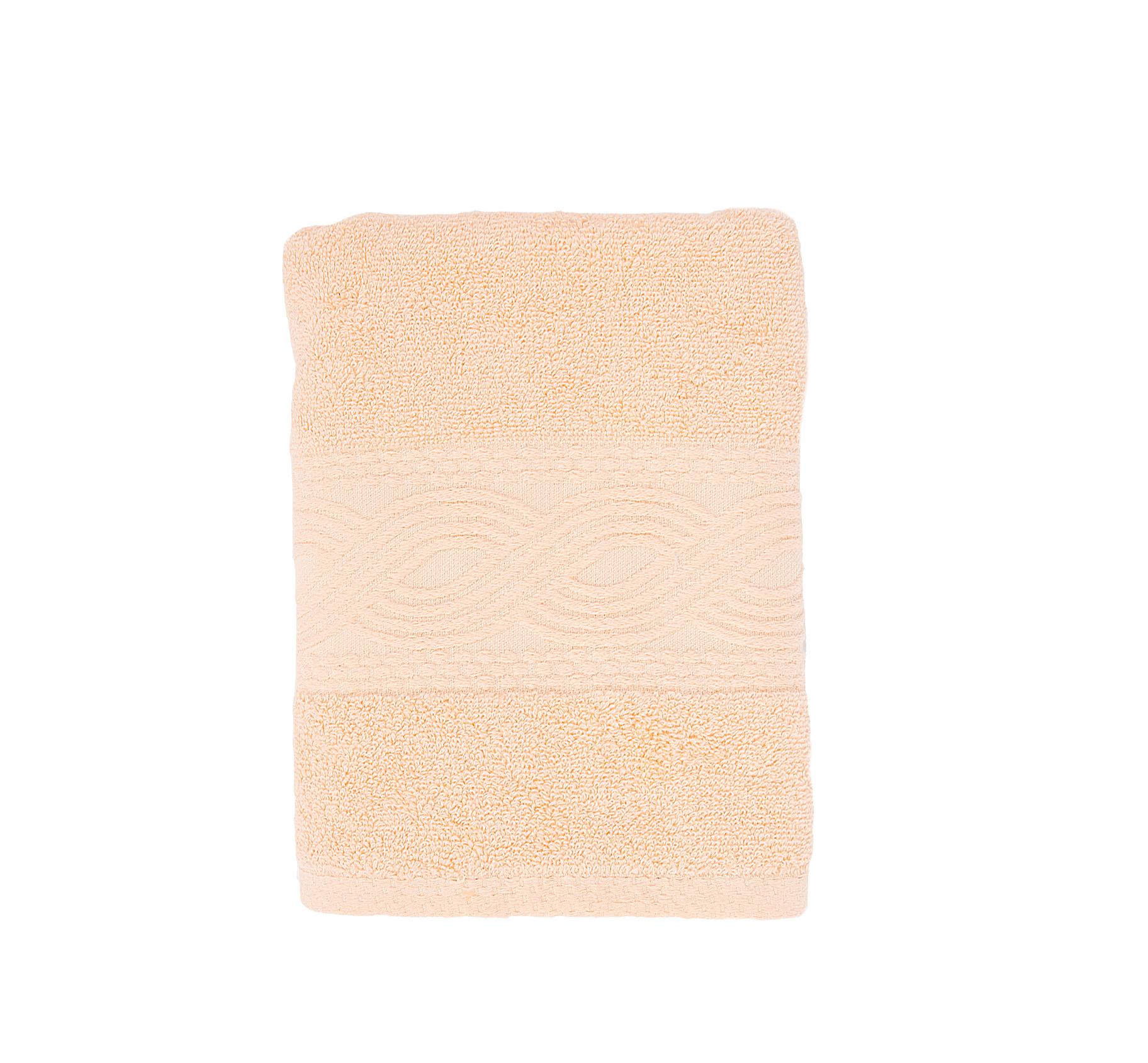 Купить Полотенца Унисон, Полотенце Анкона Цвет: Персиковый (50х90 см), Россия, Махра