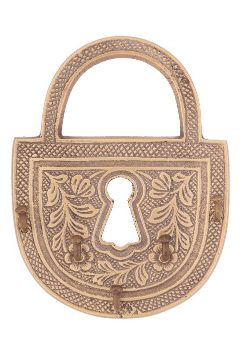 Купить Вешалки-плечики Ганг, Вешалка Замок Цвет: Бронзовый (2х9х12 см - 2 шт), Индия, Латунь