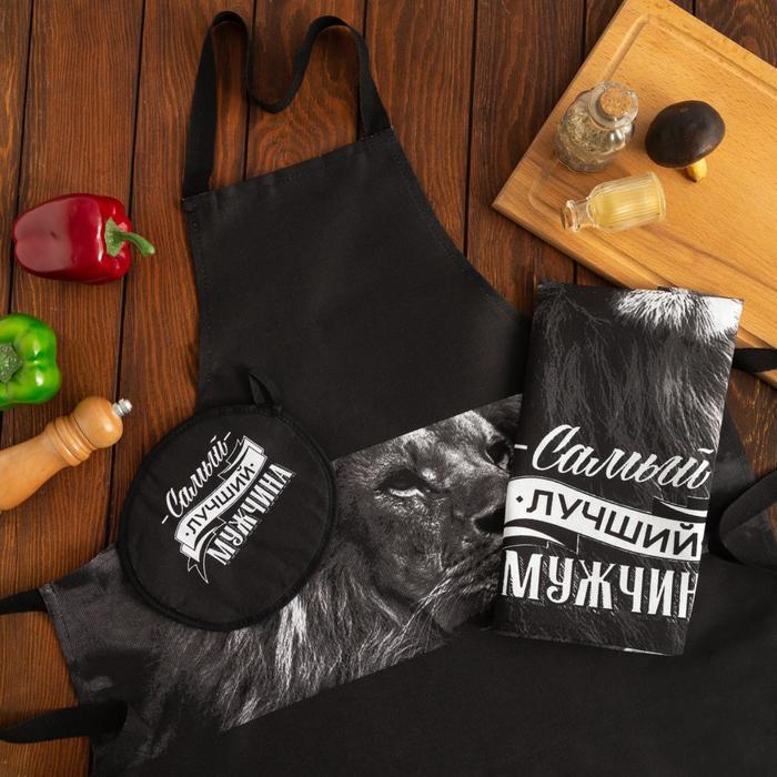 Кухонный набор Самый лучший мужчина цвет: черный