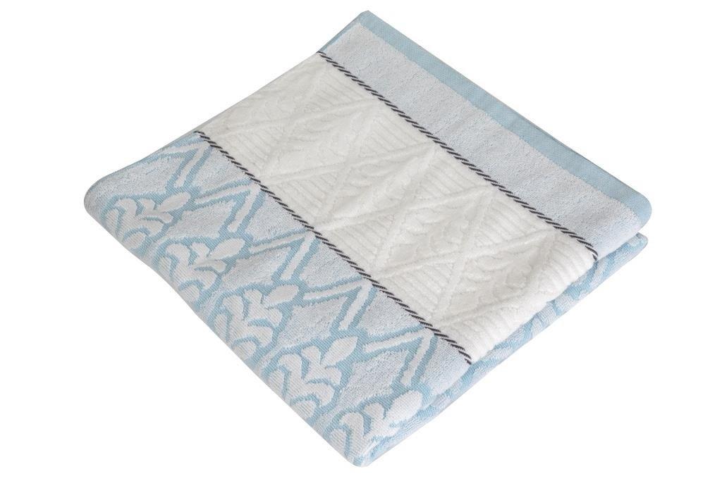 Купить Полотенца Toalla, Полотенце Крона Цвет: Голубой (50х90 см), Египет, Махра