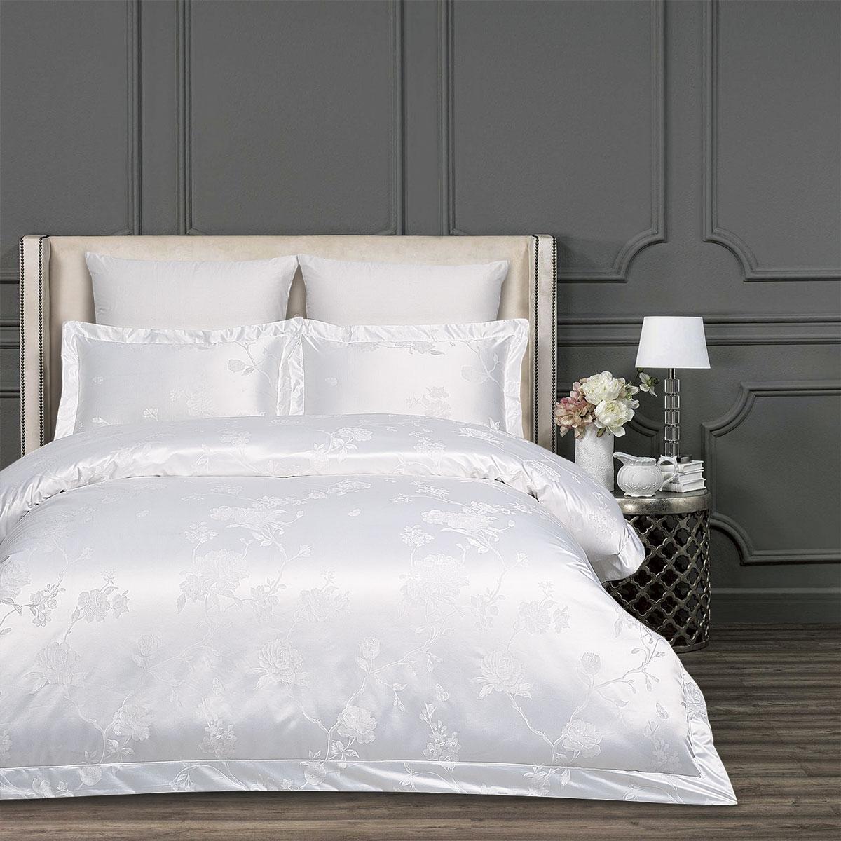 Купить Комплекты постельного белья Arya, Постельное белье Agota Цвет: Белый (2 сп. евро), Турция, Вискозный сатин