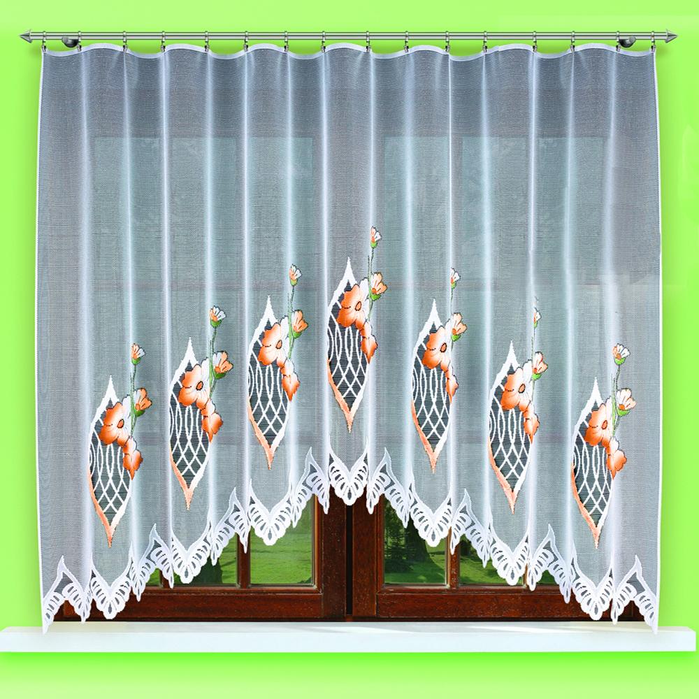 Купить Шторы Haft, Классические шторы Laurelle Цвет: Оранжевый, Польша, Тюль