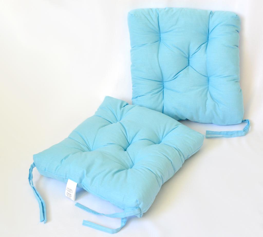 Подушка на стул Brittney цвет: голубой (35х35 (2 шт))