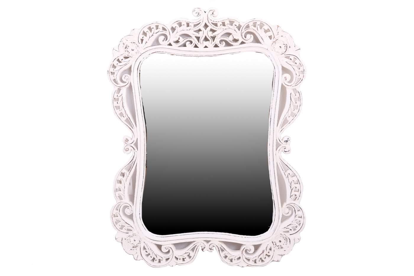 Зеркала Ганг Оправа для зеркала Amado Цвет: Белый (3х61х83 см)