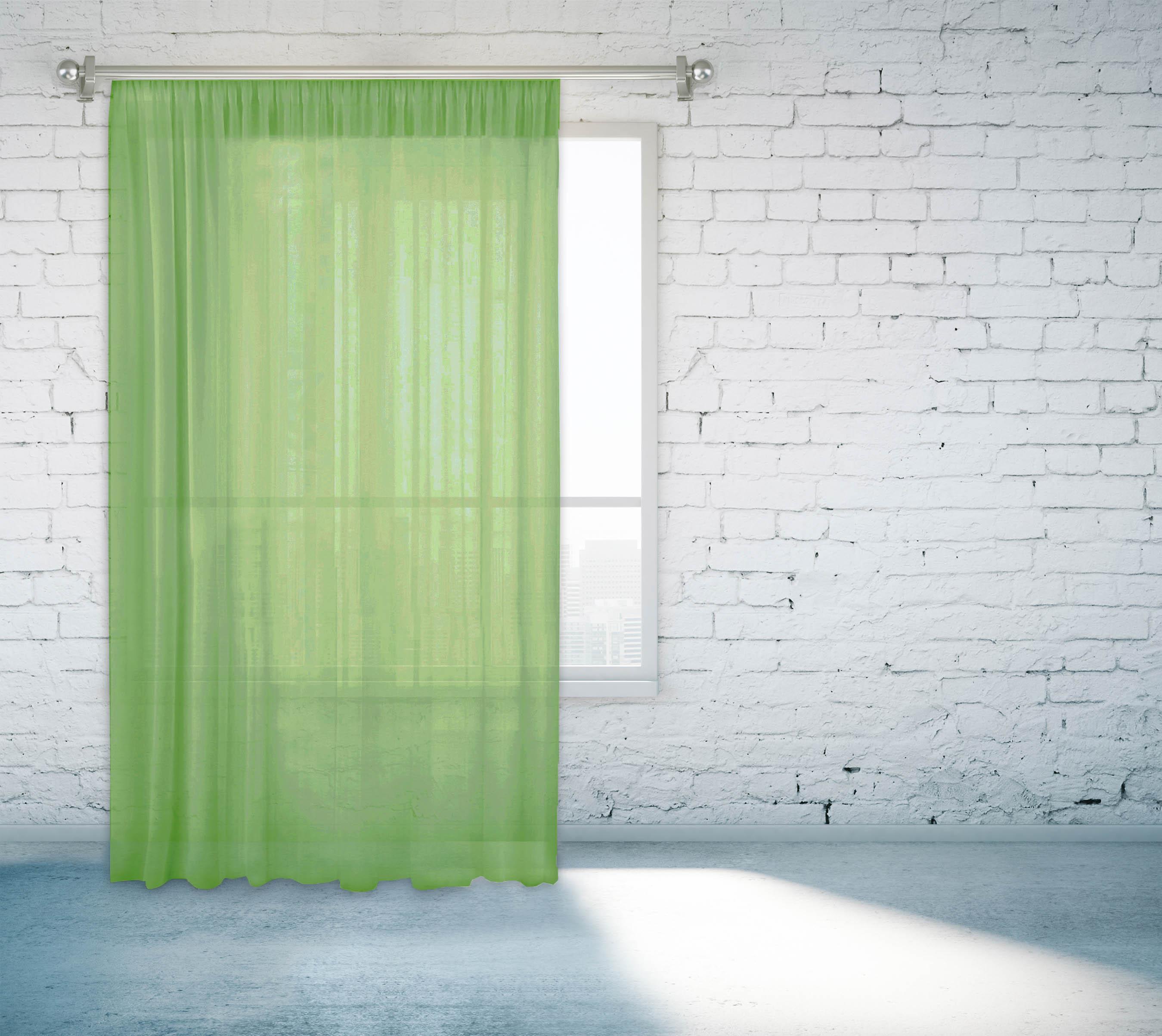 Купить Шторы Zlata Korunka, Классические шторы Adin Цвет: Зеленый, Россия, Вуаль