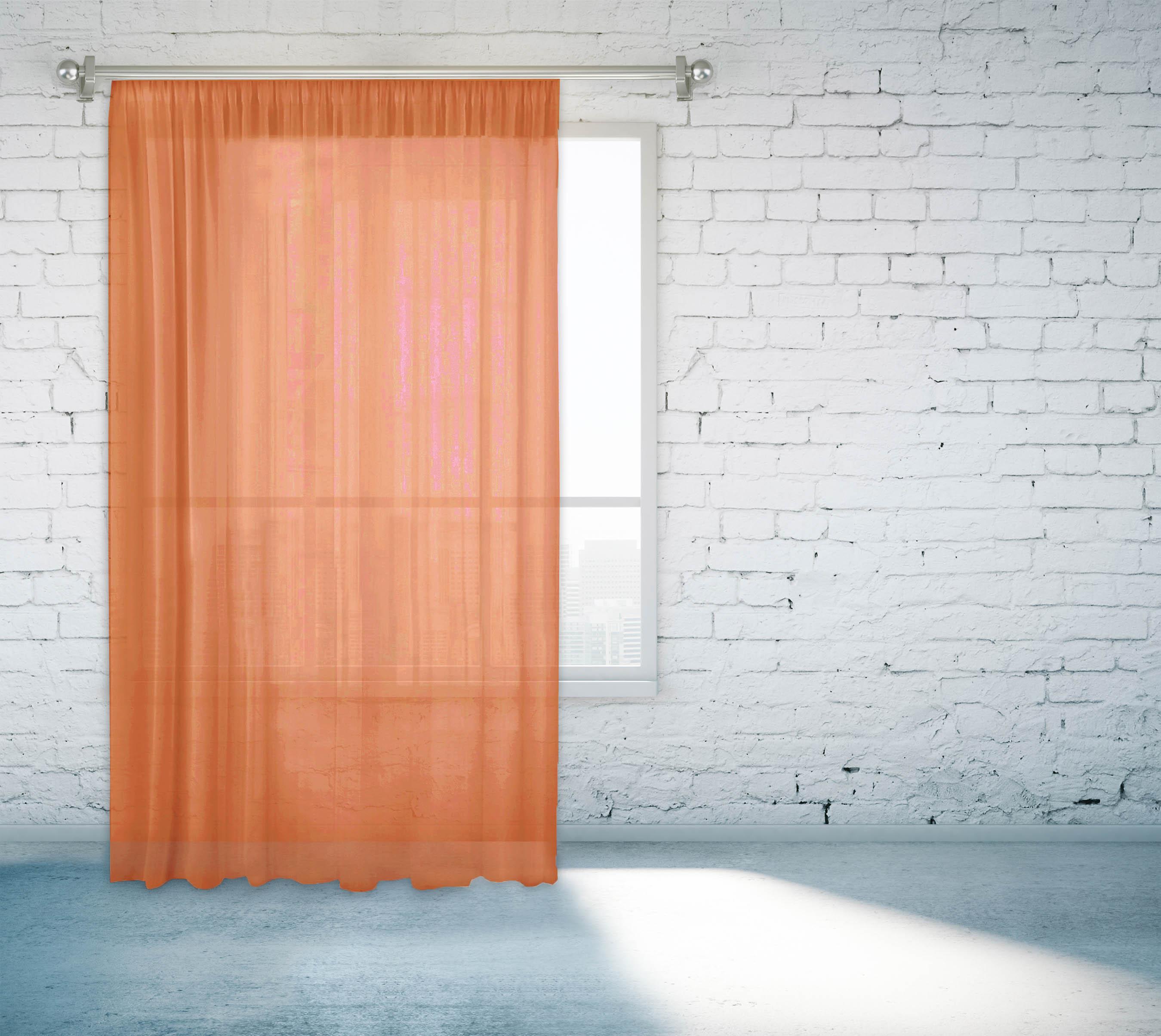 Купить Шторы Zlata Korunka, Классические шторы Adin Цвет: Рыжий, Россия, Оранжевый, Вуаль