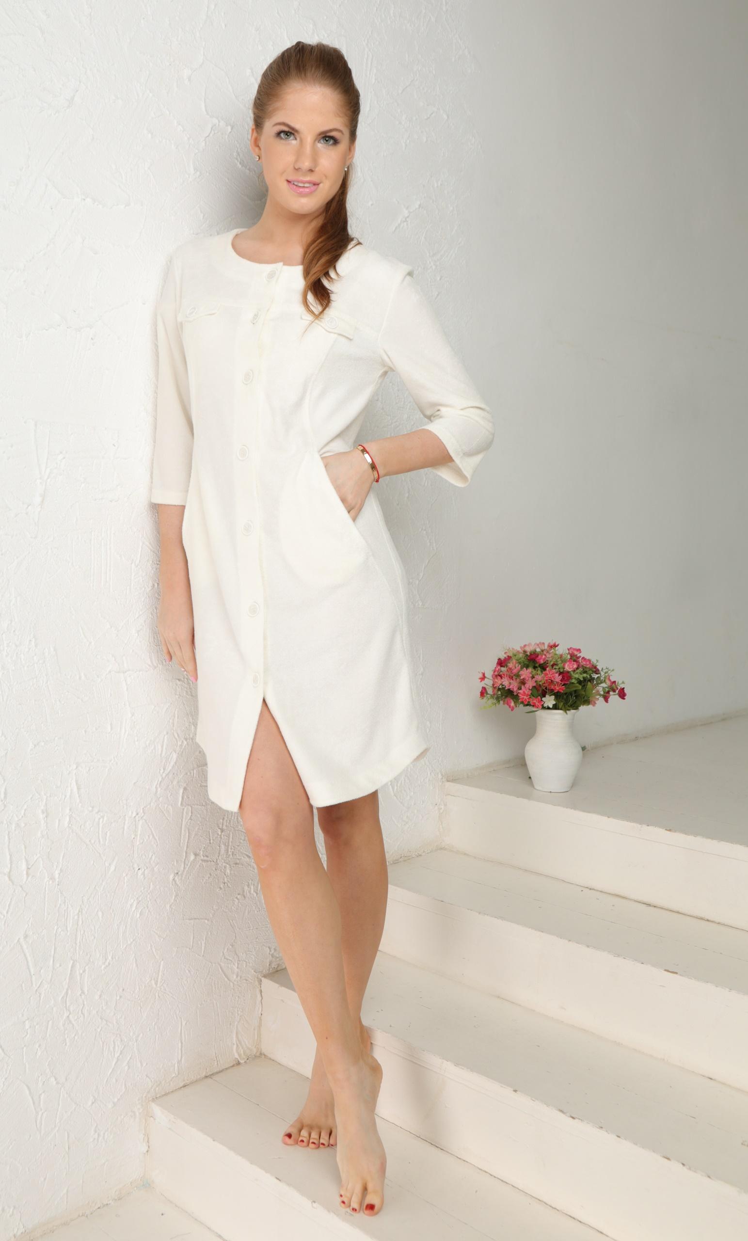 Домашний халат Bridget Цвет: Кремовый (52-54) фото