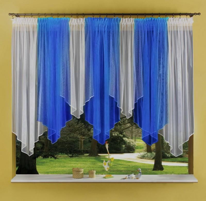 Купить Шторы Wisan, Классические шторы Патрисия Цвет: Белый, Синий, Польша, Вуаль