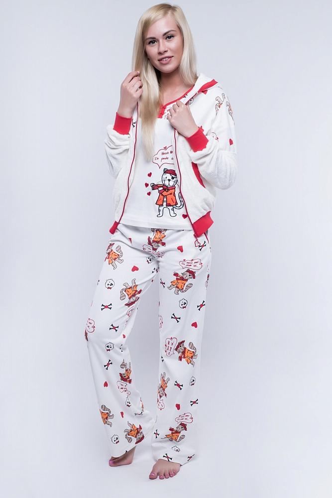 Пижама Clement Цвет: Белый, Красный (48) фото