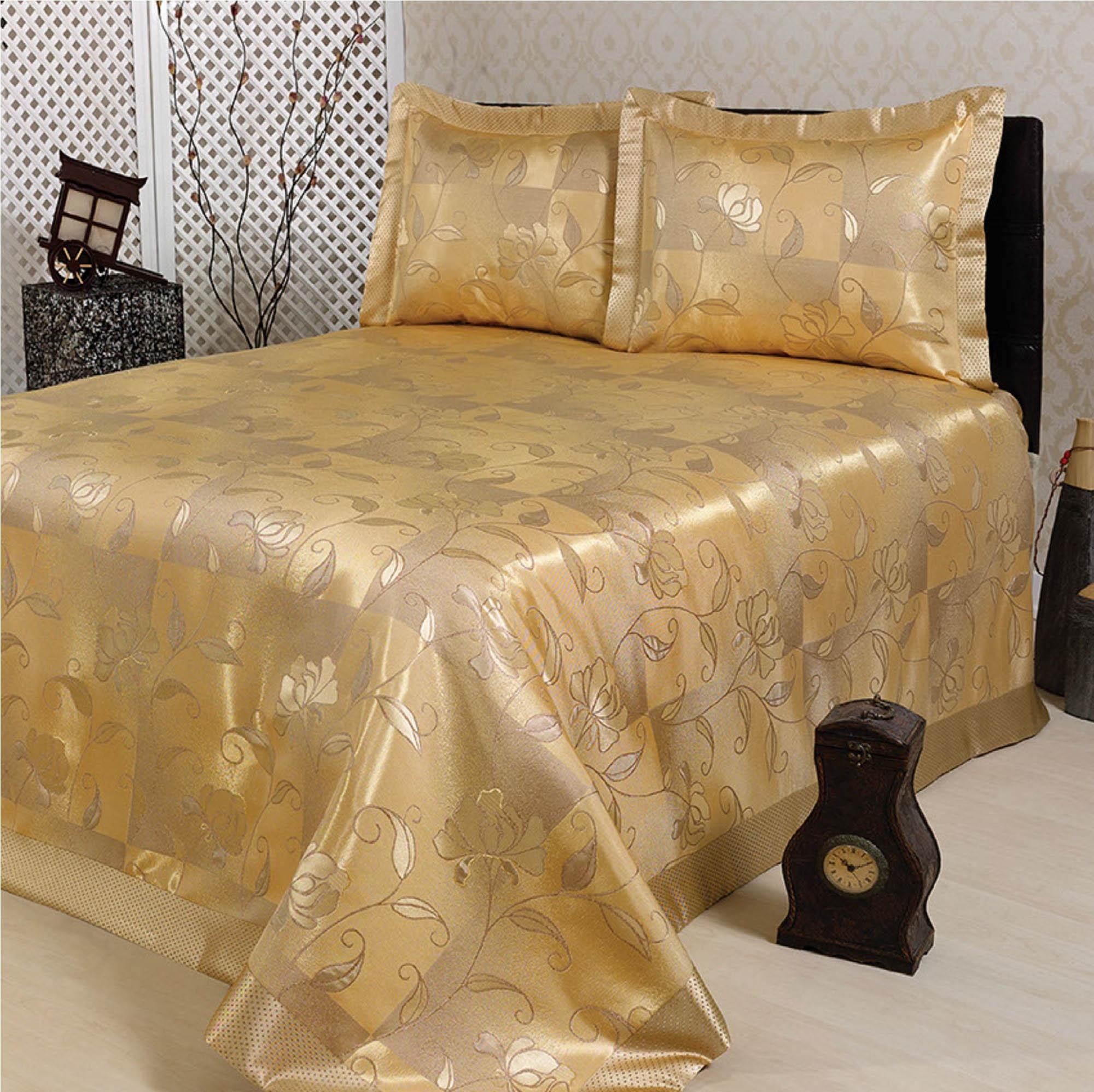 цены Пледы и покрывала NAZSU Покрывало Akasya Цвет: Золотой (240х260 см)