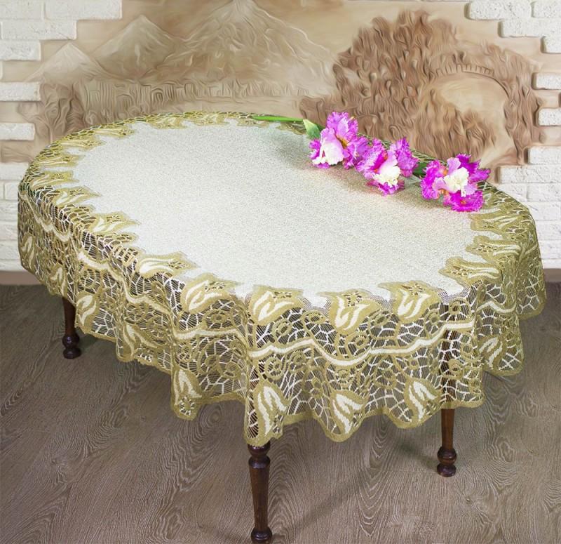 Скатерть Morgen Цвет: Ванильный, Оливковый (120х160 см)