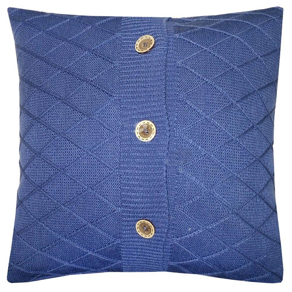 Купить Декоративные подушки Apolena, Декоративная наволочка Royal Blue Rhomb (45х45), Россия-Турция, Вязаный акрил