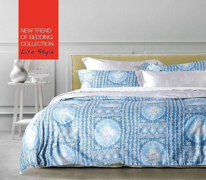 Купить Комплекты постельного белья Tango, Постельное белье Casimir(2 спал.), Китай, Голубой, Хлопковый сатин