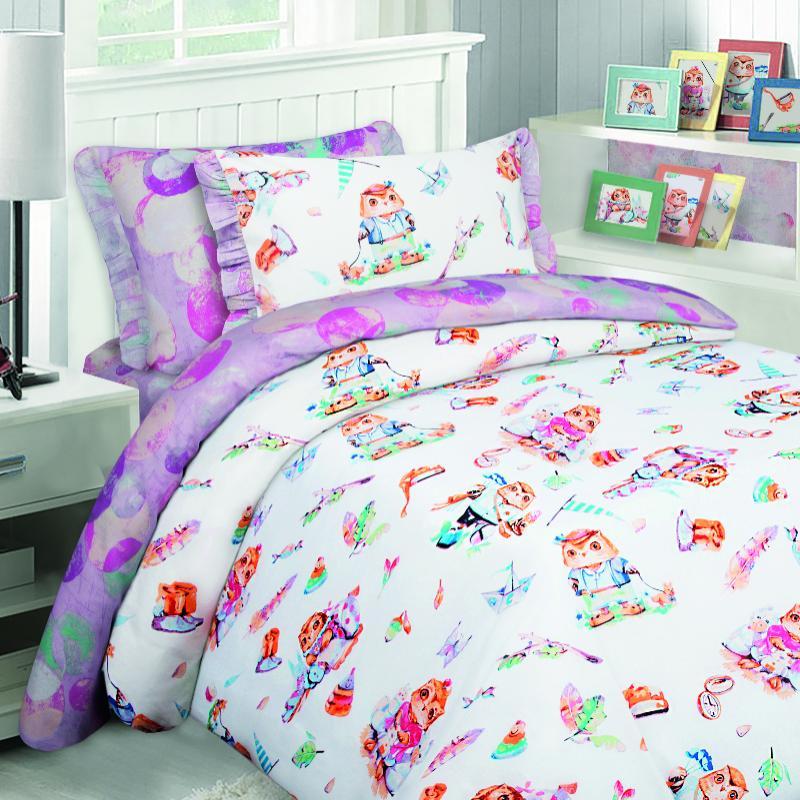 детское постельное белье Mona Liza Детское Постельное белье Совята (145х210 см) цена