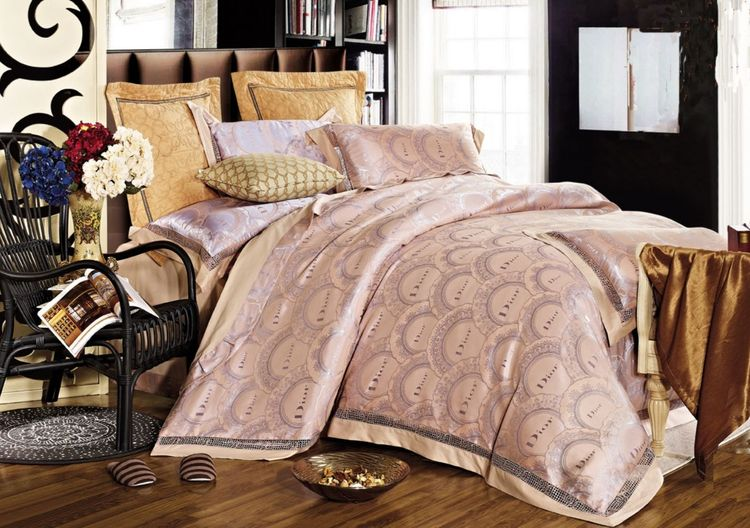 Купить Комплекты постельного белья Tango, Постельное белье Millie (семейное), Китай, Розовый, Хлопковый сатин