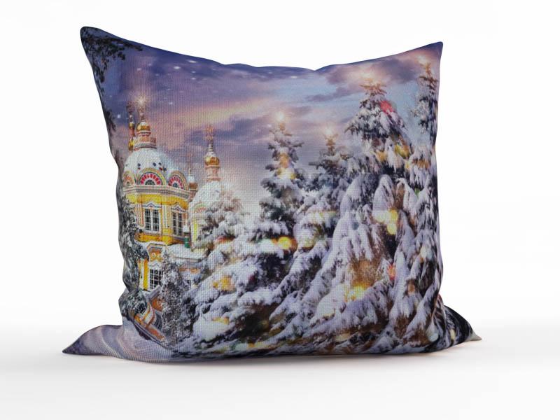 Декоративные подушки StickButik Декоративная подушка Снежок (45х45) пакет гипотермический снежок
