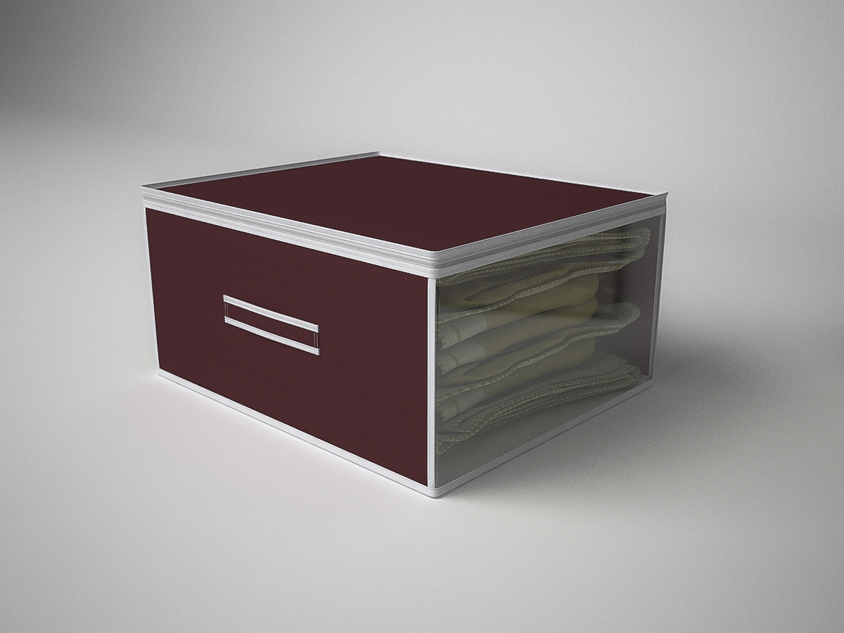 Купить Органайзеры и кофры CoFreT, Кофр для хранения Классик Цвет: Бордовый (30х50х60 см), Россия, Полимер, Спанбонд