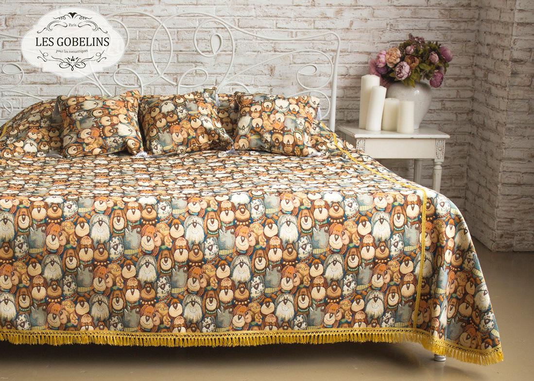 Покрывала, подушки, одеяла для малышей Les Gobelins Детское Покрывало на кровать Chiens (240х260 см)