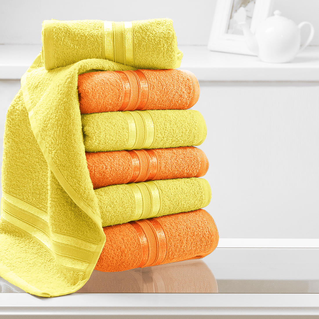 Полотенца Dome Полотенце для рук Harmonika Цвет: Желтый, Оранжевый (33х50 см - 6 шт) усилитель сопротивления для рук aqua sphere ergobells цвет оранжевый 2 шт