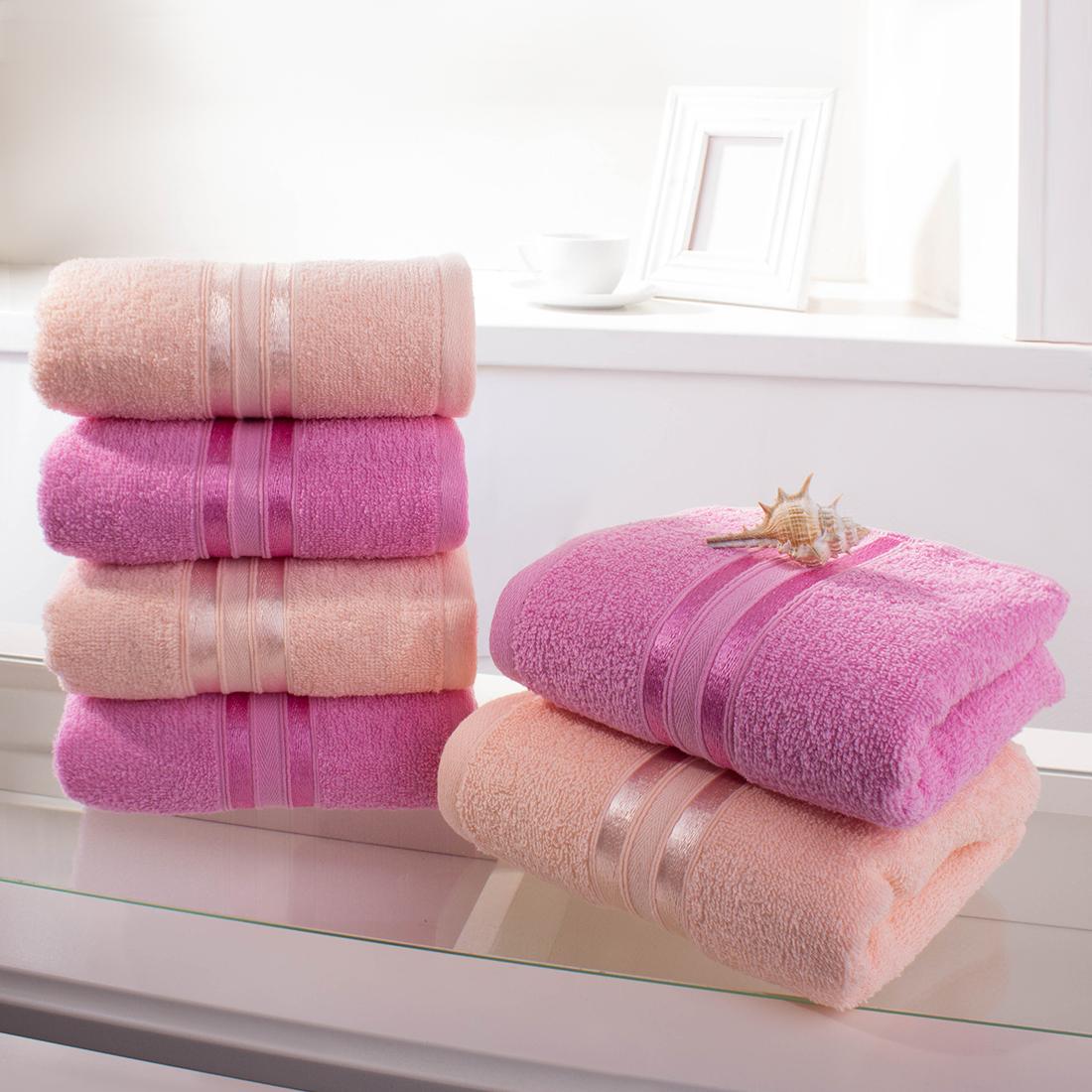 Купить Полотенца Dome, Полотенце для рук Harmonika Цвет: Розовая Вишня, Персиковый (33х50 см - 6 шт), Дания, Махра
