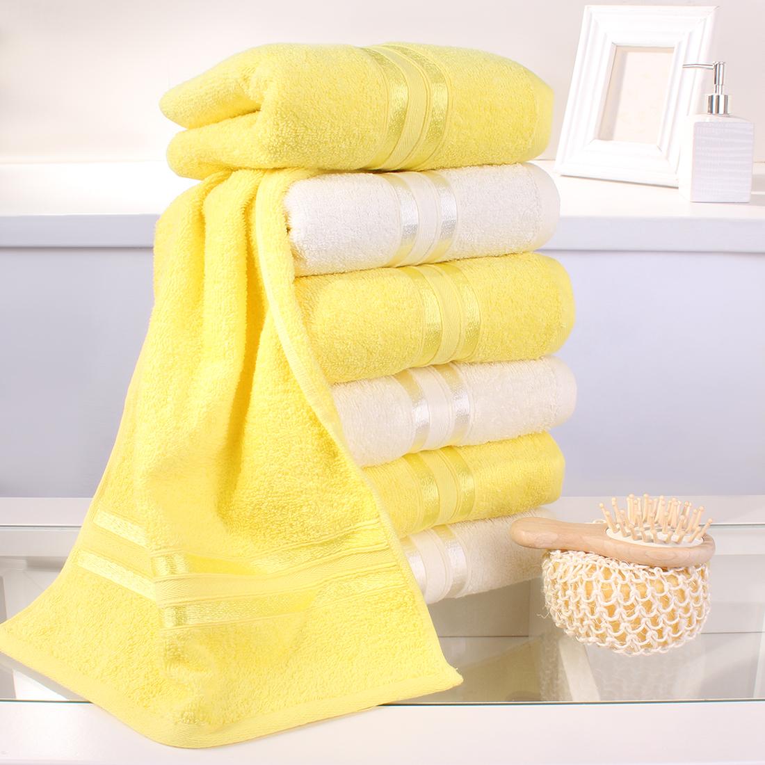 Купить Полотенца Dome, Полотенце для рук Harmonika Цвет: Молочный, Желтый (33х50 см - 6 шт), Дания, Махра