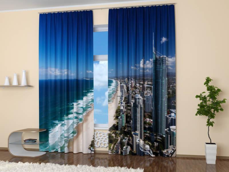 Шторы StickButik Фотошторы Пляж Австралии