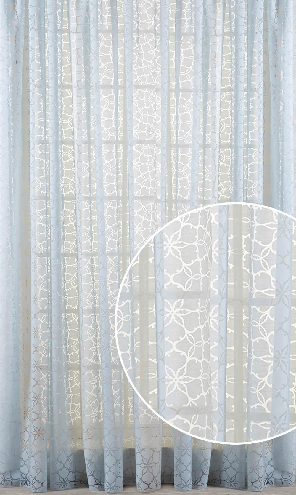 Купить Шторы Primavelle, Классические шторы Vivian Цвет: Серо-Голубой, Россия, Голубой, Серый, Вуаль