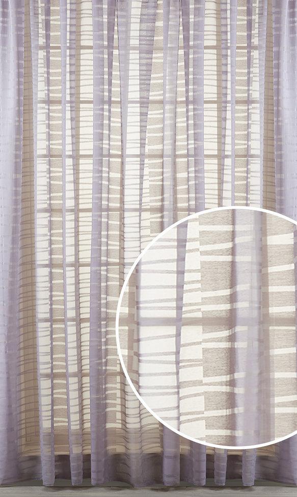 Купить Шторы Primavelle, Классические шторы Marlon Цвет: Лилово-Серый, Россия, Вуаль