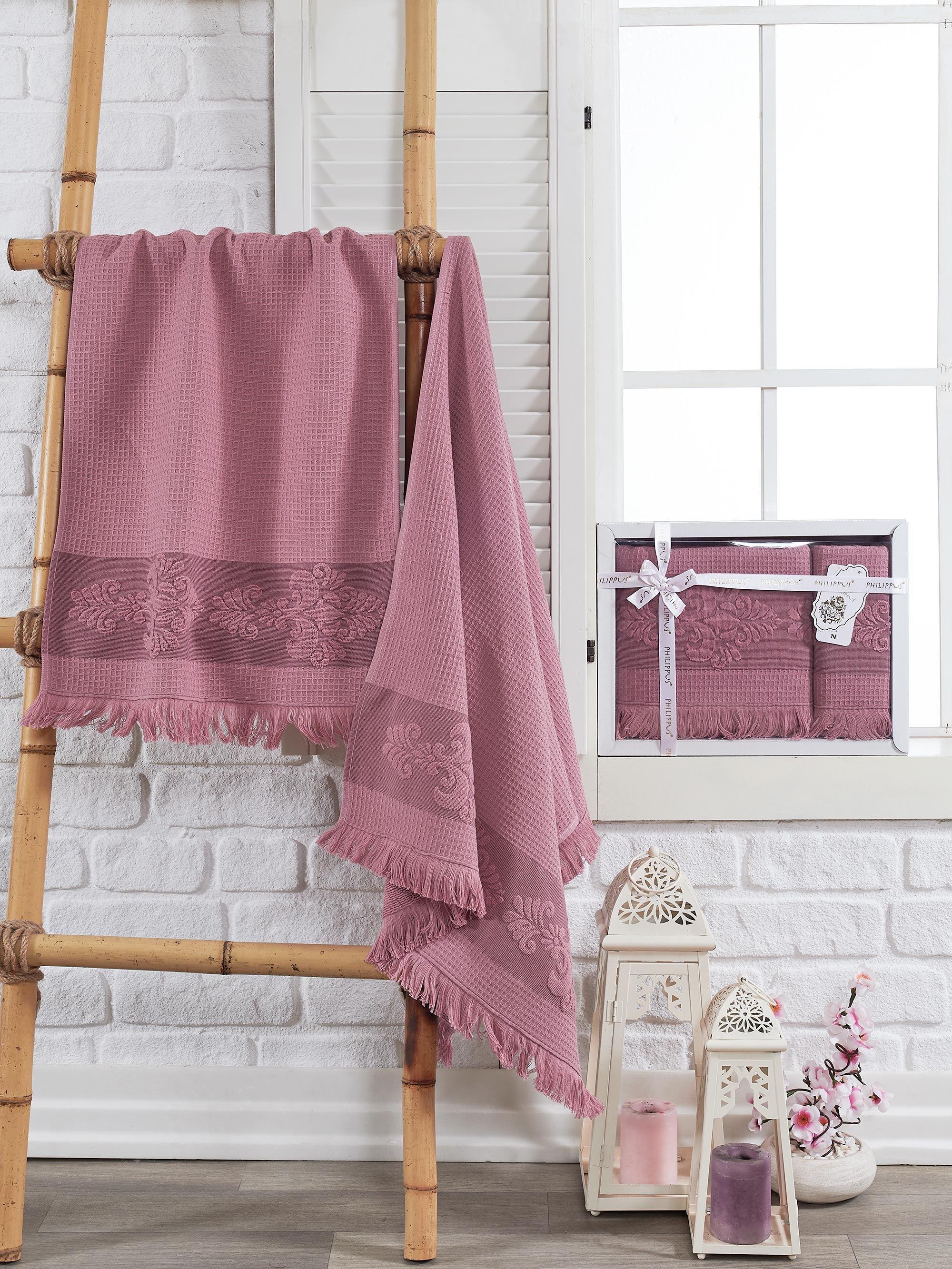 Полотенца Philippus Полотенце Ahus Цвет: Брусничный (50х90 см,70х140 см) полотенца philippus полотенце maura цвет кремовый 50х90 см