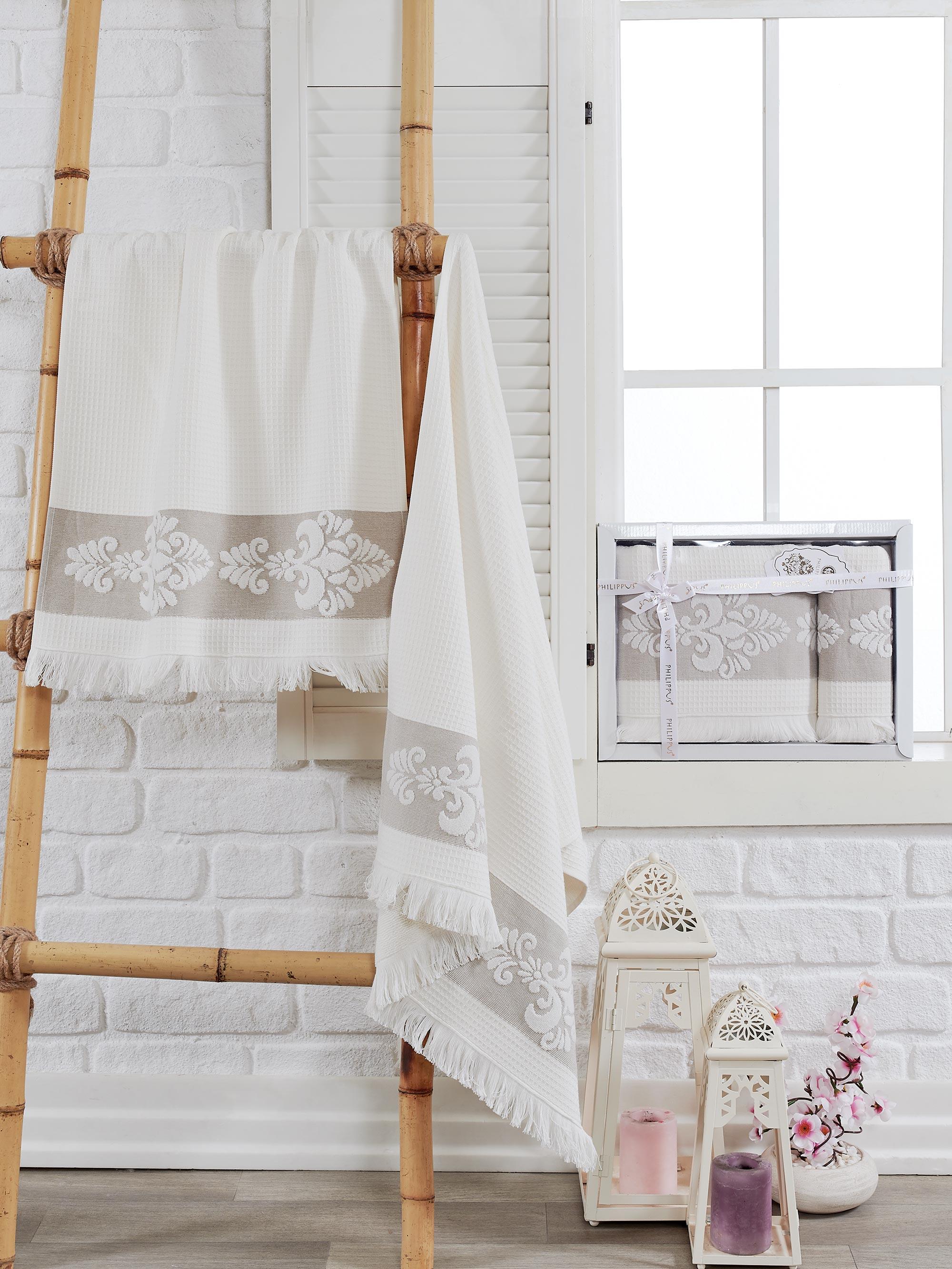 Полотенца Philippus Полотенце Ahus Цвет: Кремовый (50х90 см,70х140 см) полотенца philippus полотенце maura цвет кремовый 50х90 см