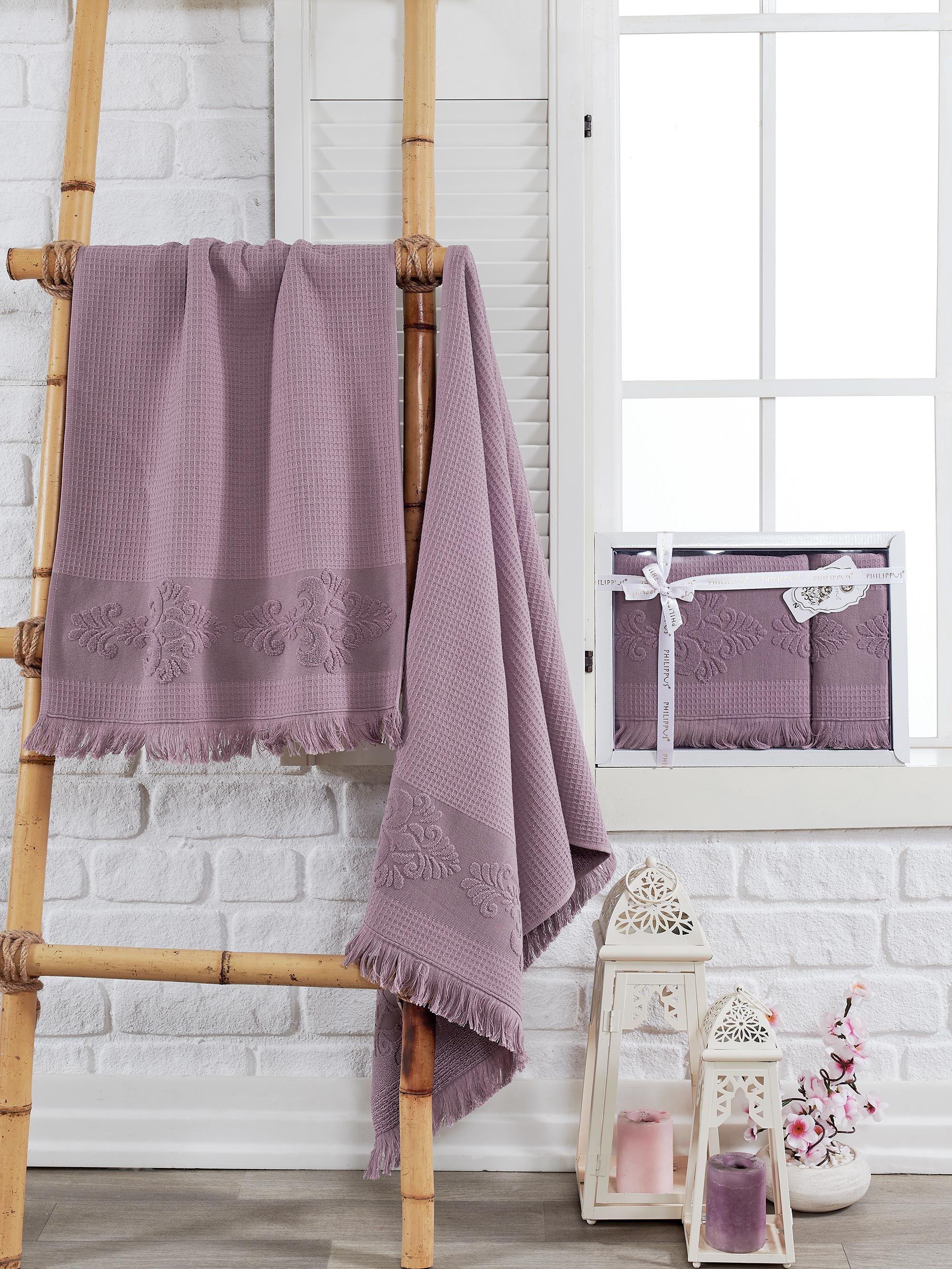 Полотенца Philippus Полотенце Ahus Цвет: Баклажан (50х90 см,70х140 см) полотенца philippus полотенце maura цвет кремовый 50х90 см