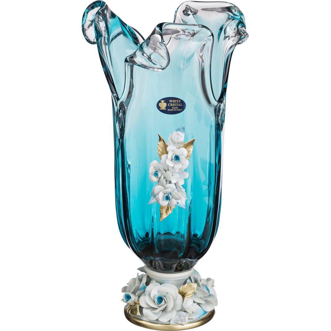 Вазы WHITE CRISTAL Ваза Agde (40 см) asymmetric rhinestone design flower embroidered denim dress