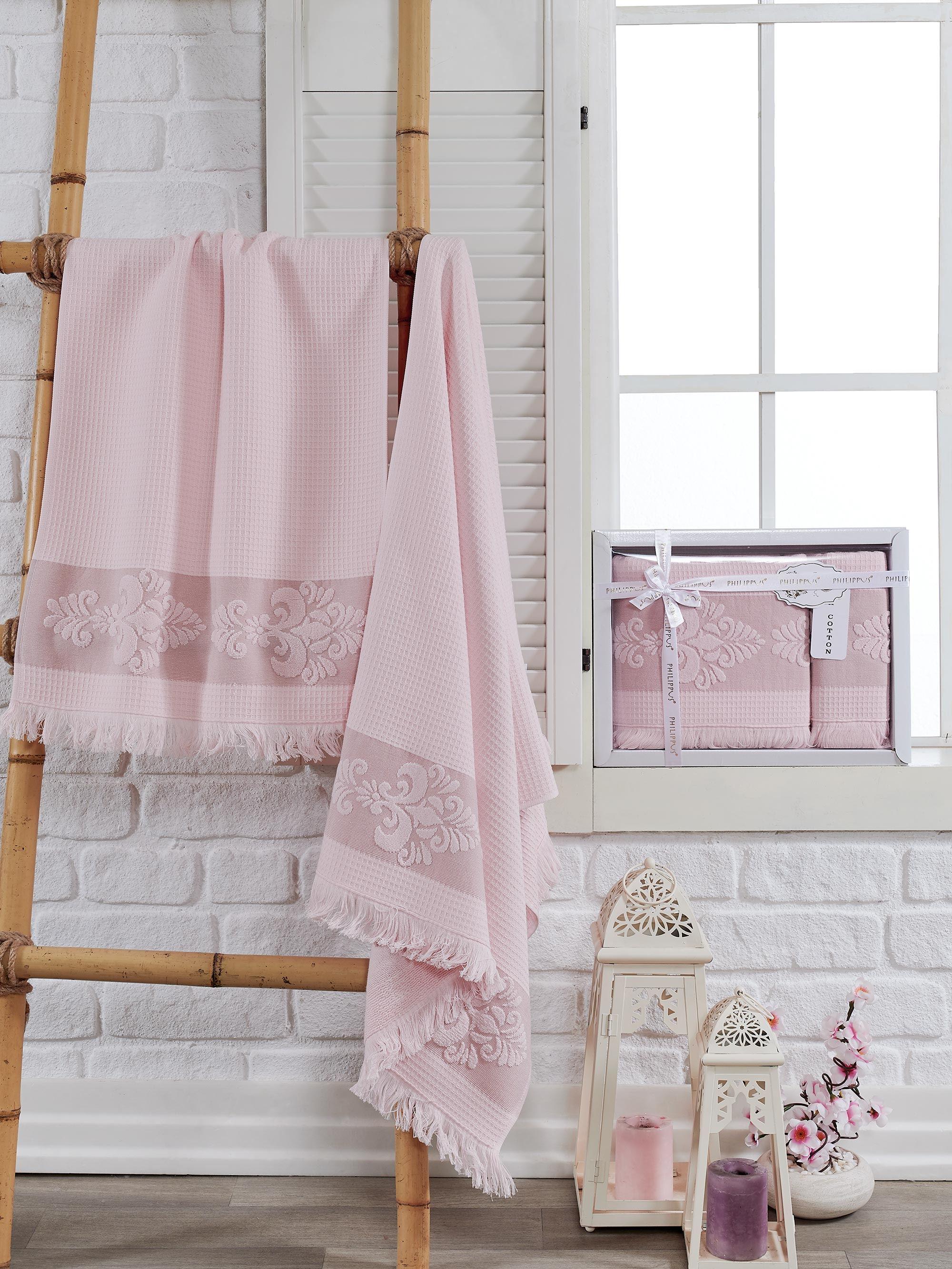 Полотенца Philippus Полотенце Ahus Цвет: Светло-Розовый (50х90 см,70х140 см) полотенца philippus полотенце maura цвет кремовый 50х90 см