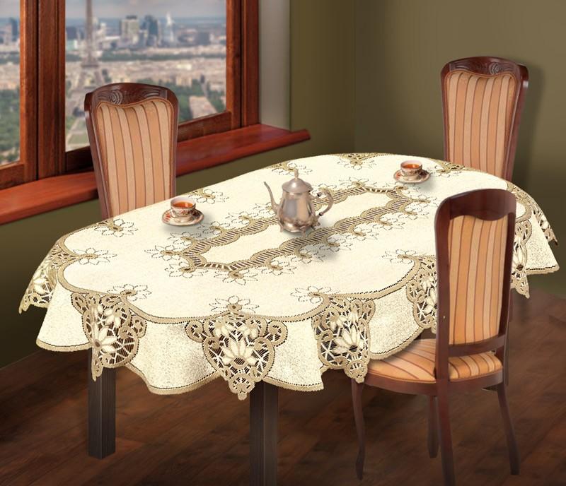 Скатерть Aden Цвет Кремовый, Золотистый (130х180 см)