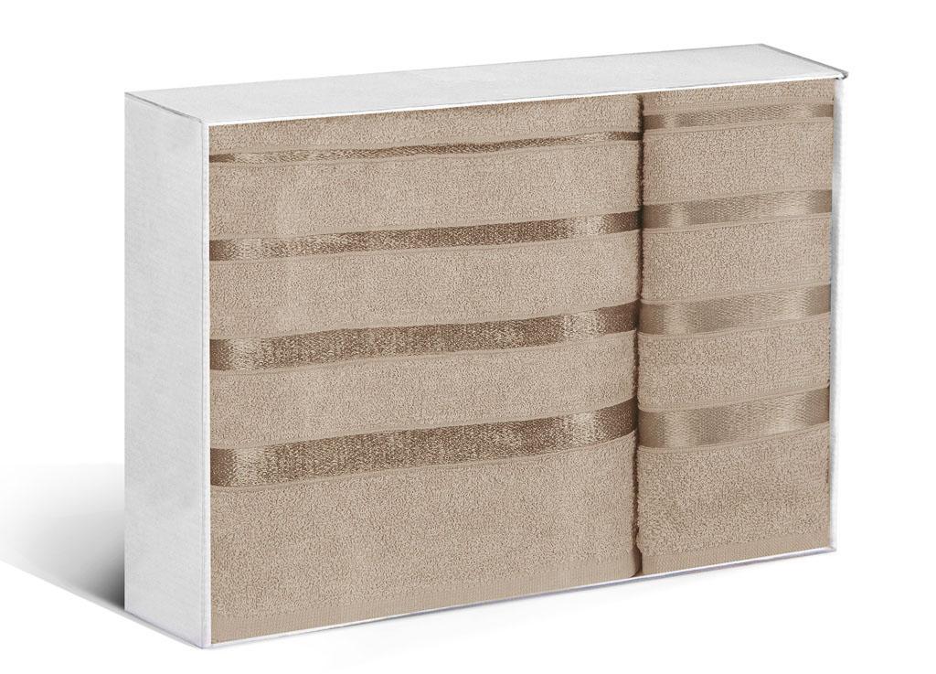 Купить Полотенца Soavita, Полотенце Шантони Цвет: Коричневый (50х88 см, 65х138 см), Китай, Махра