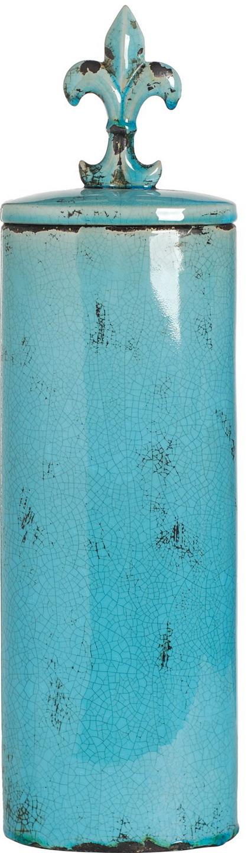 Вазы ARTEVALUCE Ваза с крышкой Orlenda Цвет: Голубой (11х17х58 см)