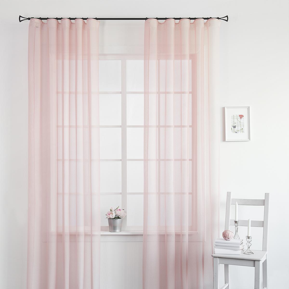 Купить Шторы MOLLY, Классические шторы Майа Цвет: Розовый, Россия, Тюль