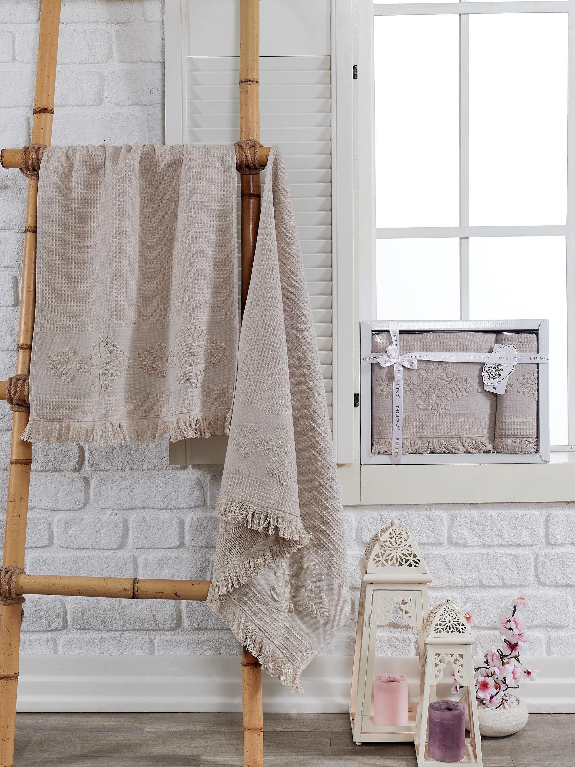 Полотенца Philippus Полотенце Ahus Цвет: Бежевый (50х90 см,70х140 см) полотенца philippus полотенце maura цвет кремовый 50х90 см