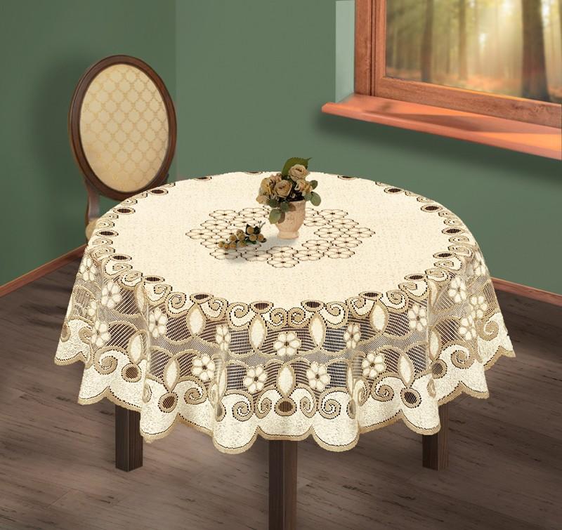 Скатерть Ramira Цвет: Кремово-Золотистый (круглая 200 см)