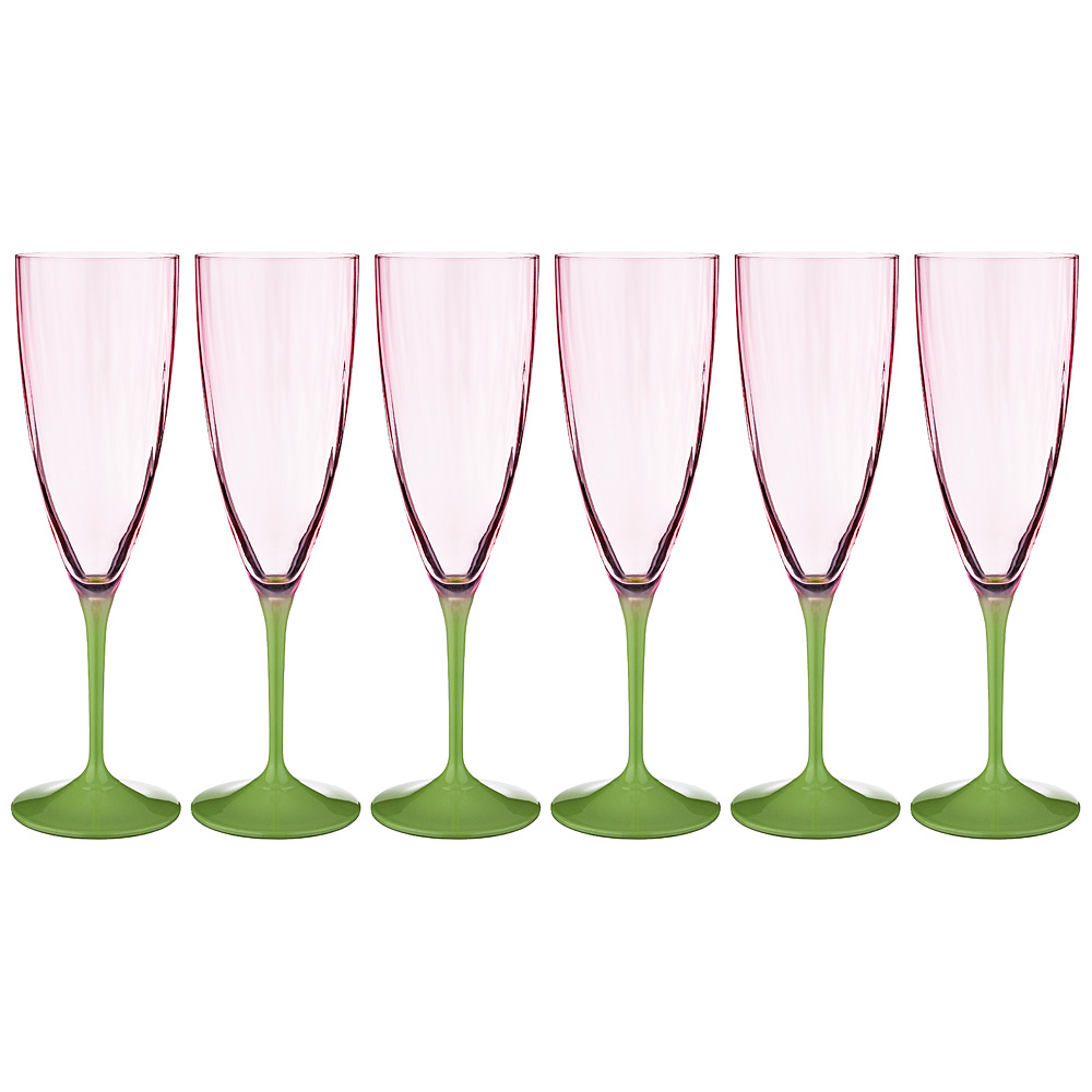 Набор бокалов для шампанского Kate Optic (220 мл - 6 шт) фото